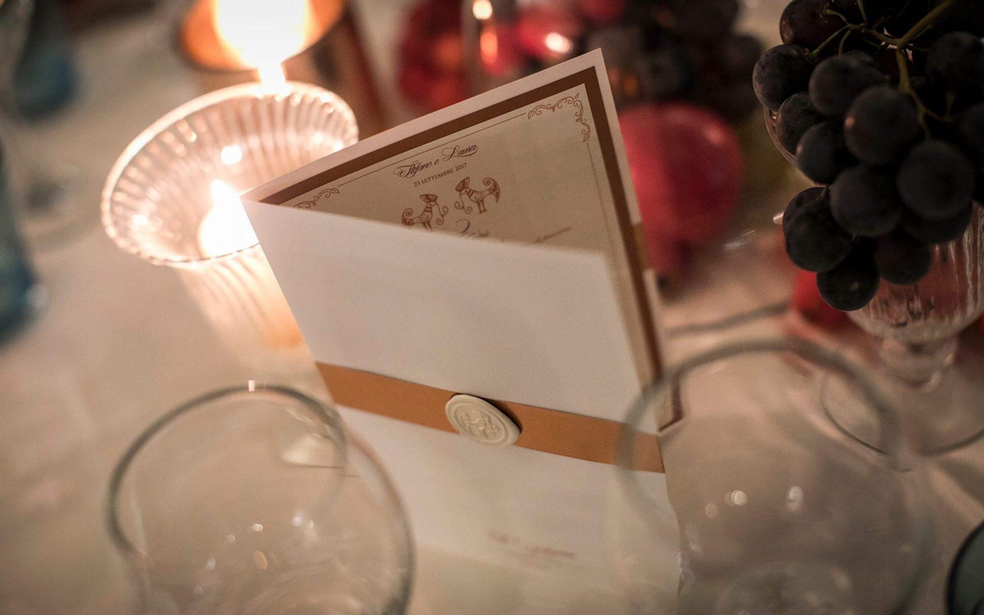 Su Gologone wedding, white and copper stationery
