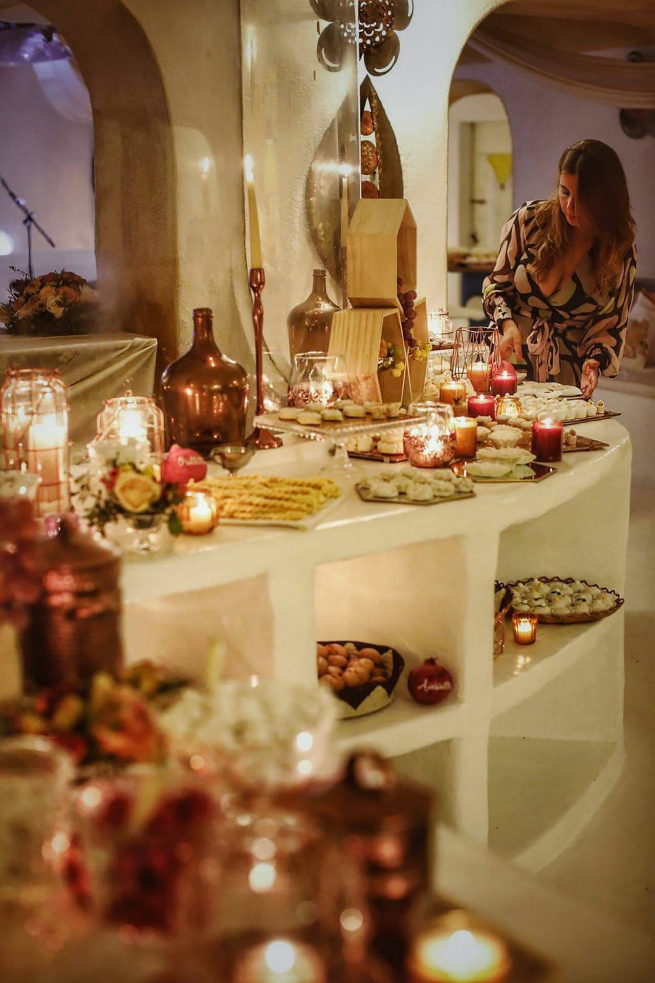 Su Gologone wedding, traditional Sardinia sweet table