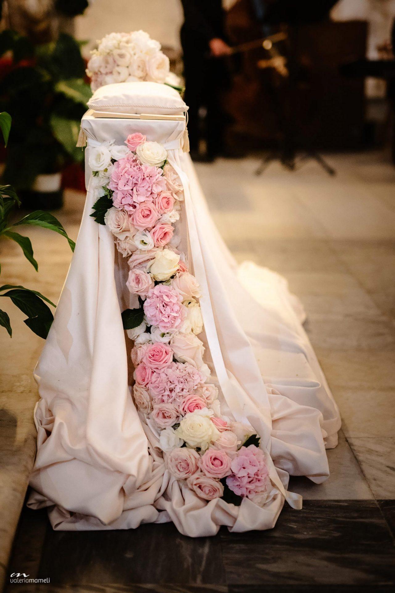 Francesca and Francesco, wedding altar flower decoration
