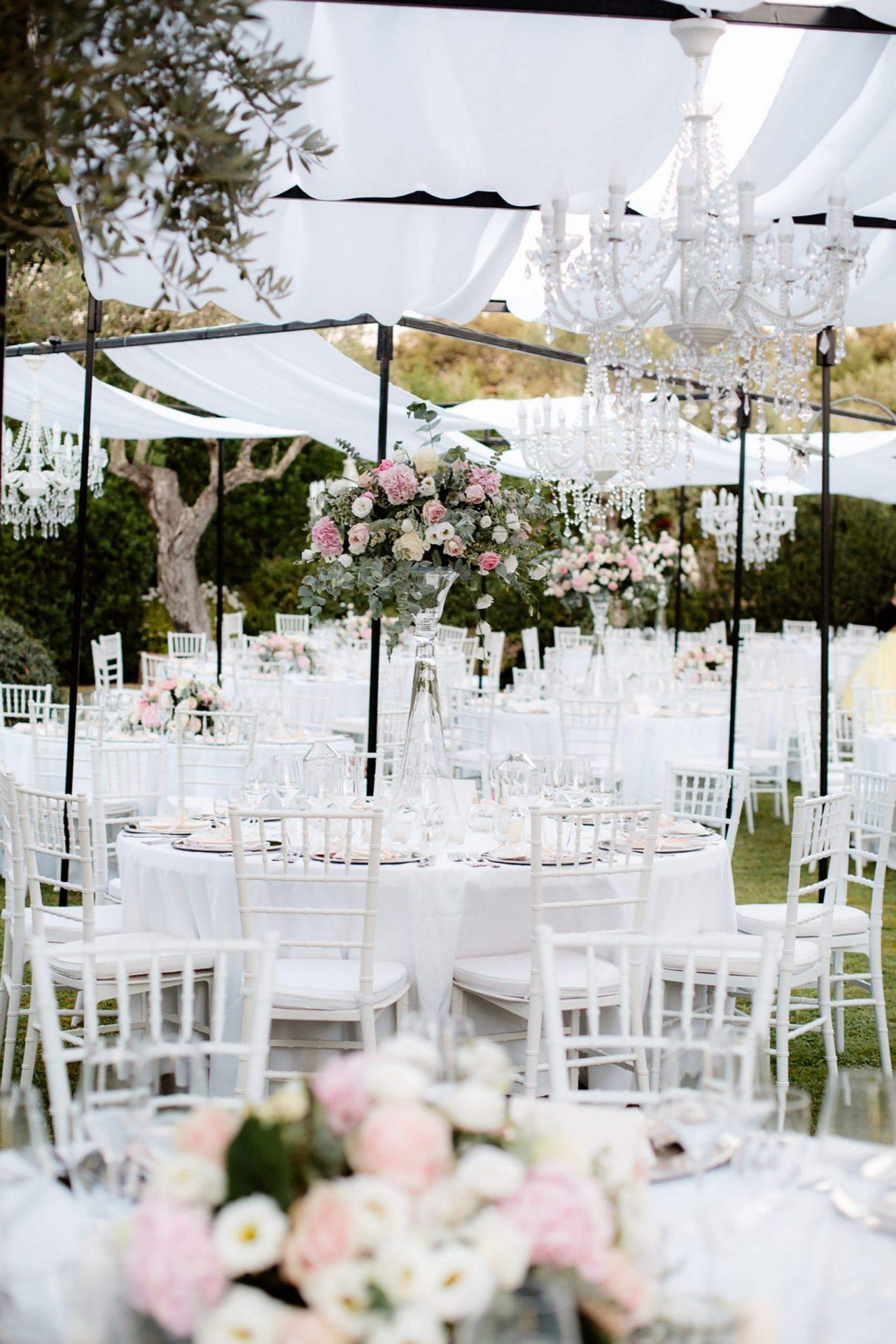 Francesca and Francesco, secret garden wedding reception