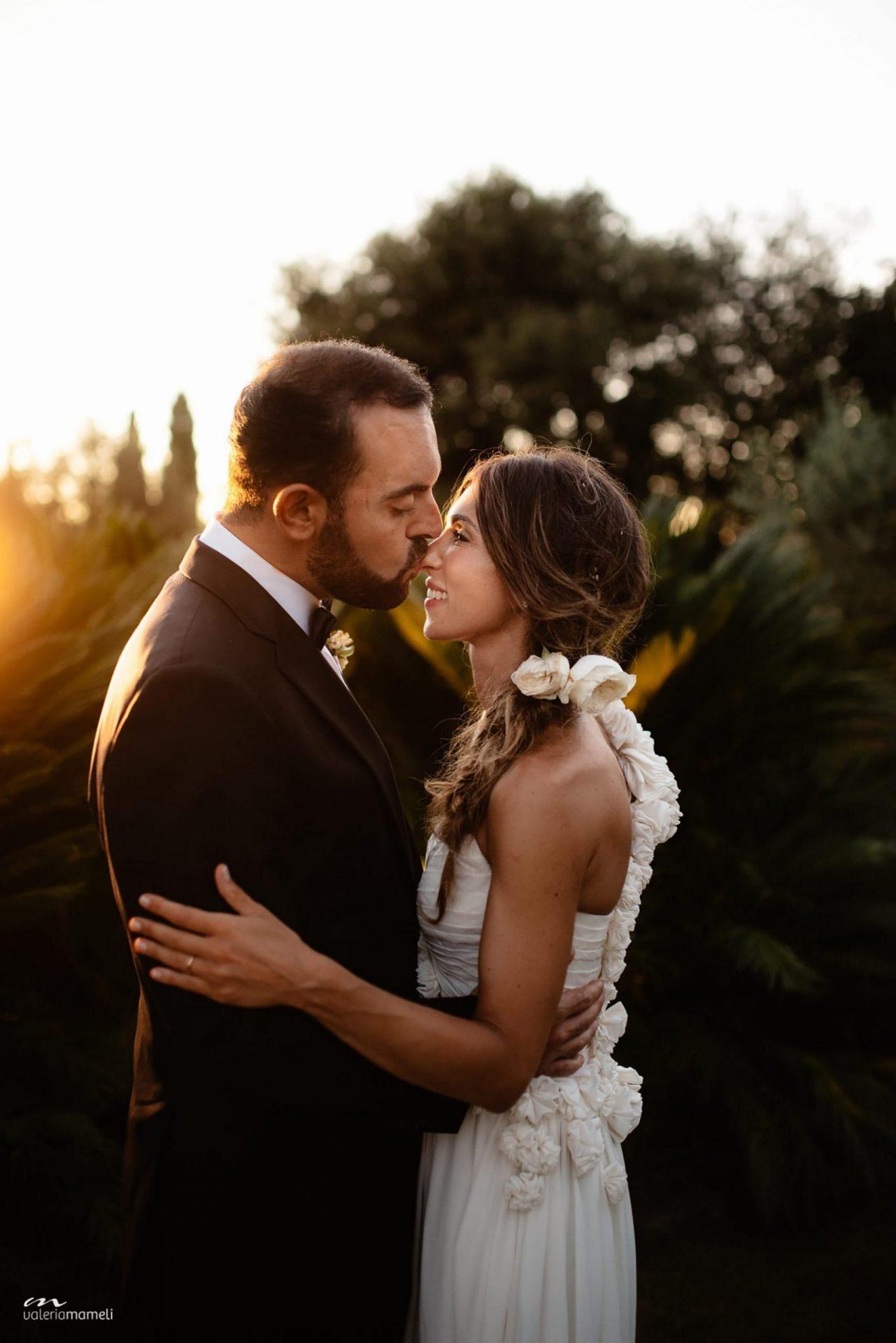 Francesca and Francesco, the bride and the groom