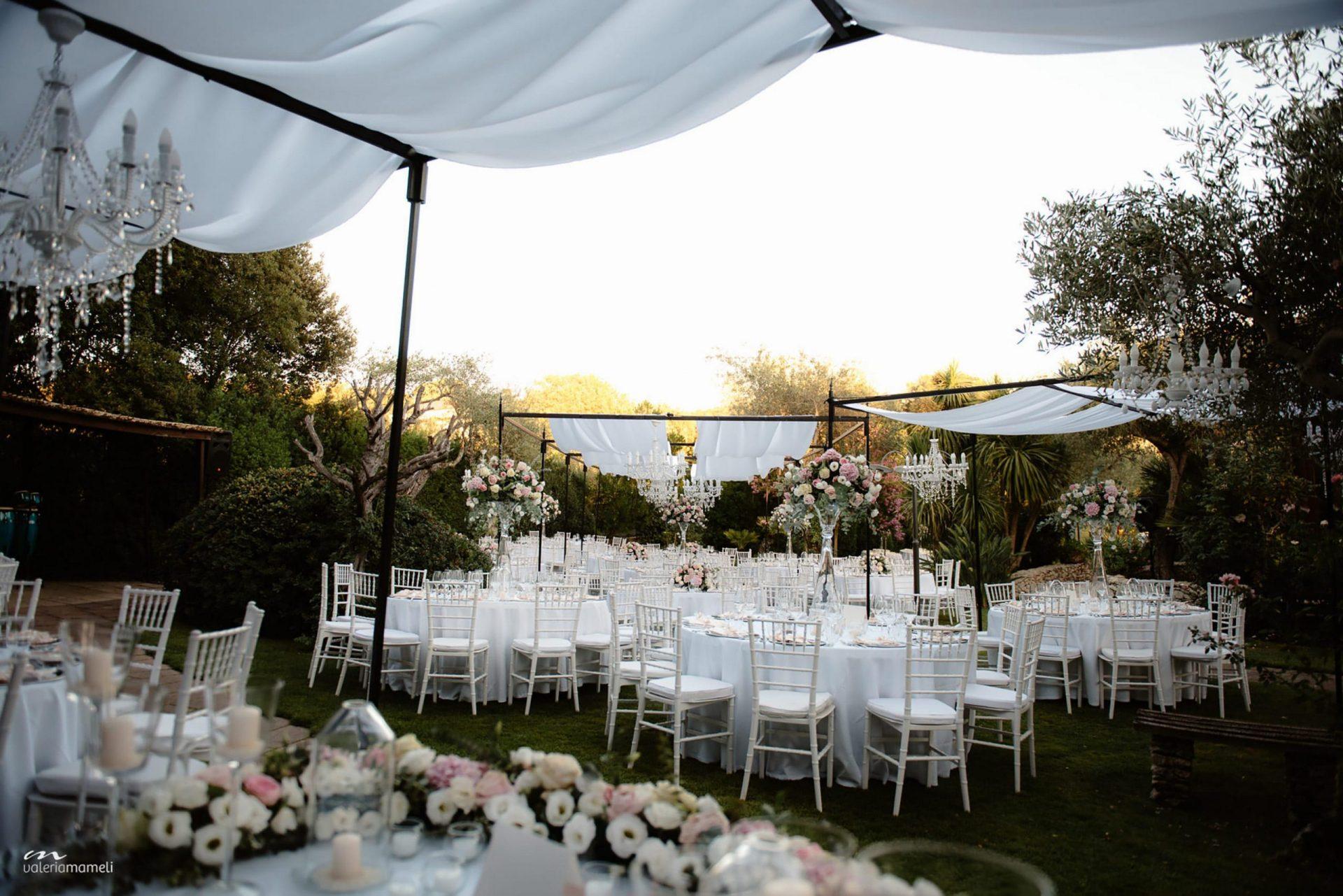 Francesca and Francesco, Italian garden wedding reception