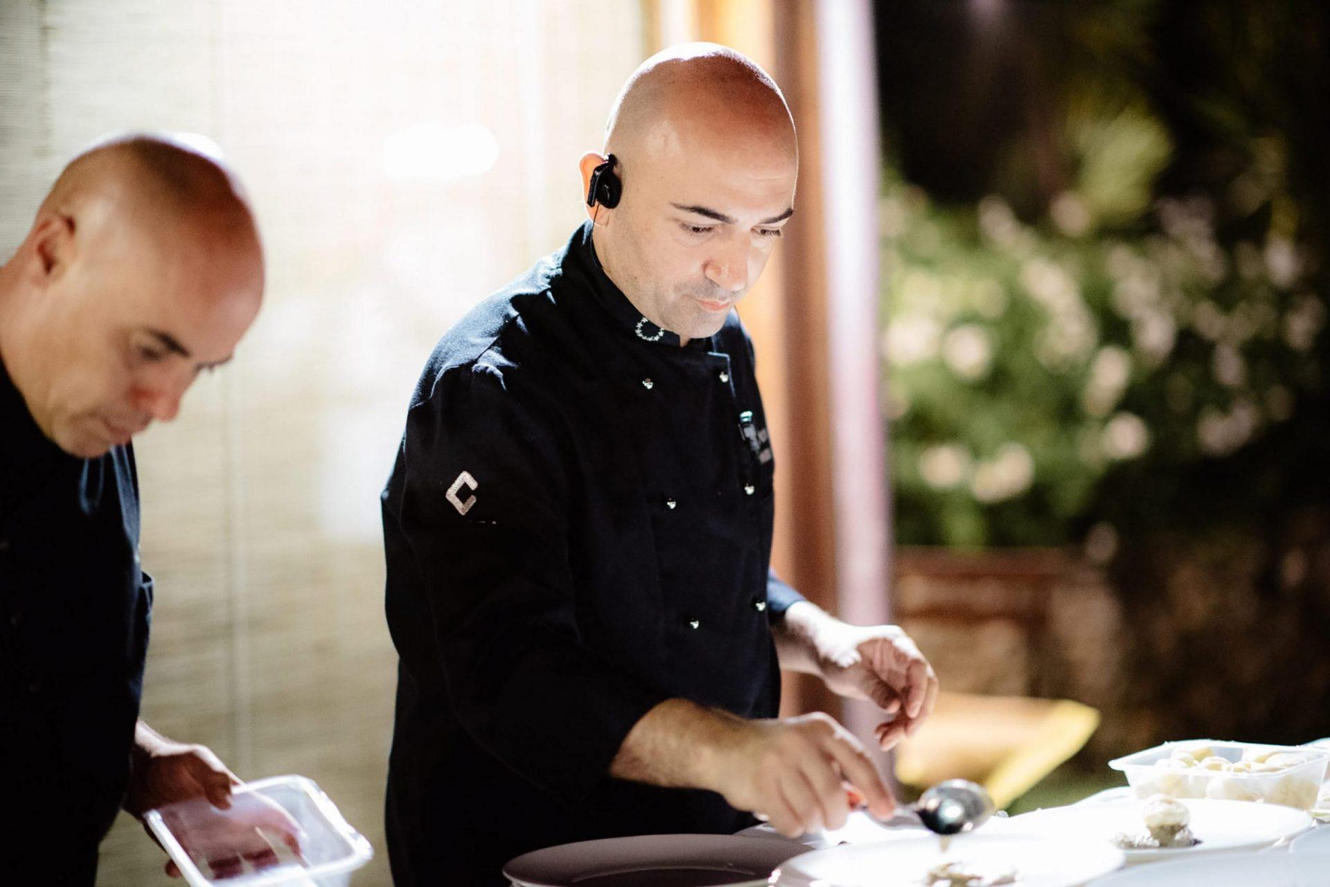 Francesca and Francesco, Gianluca Aresu pastry chef
