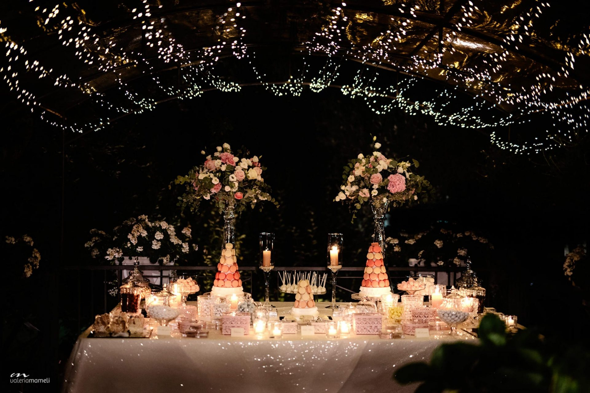 Francesca and Francesco, scenographic sweet table
