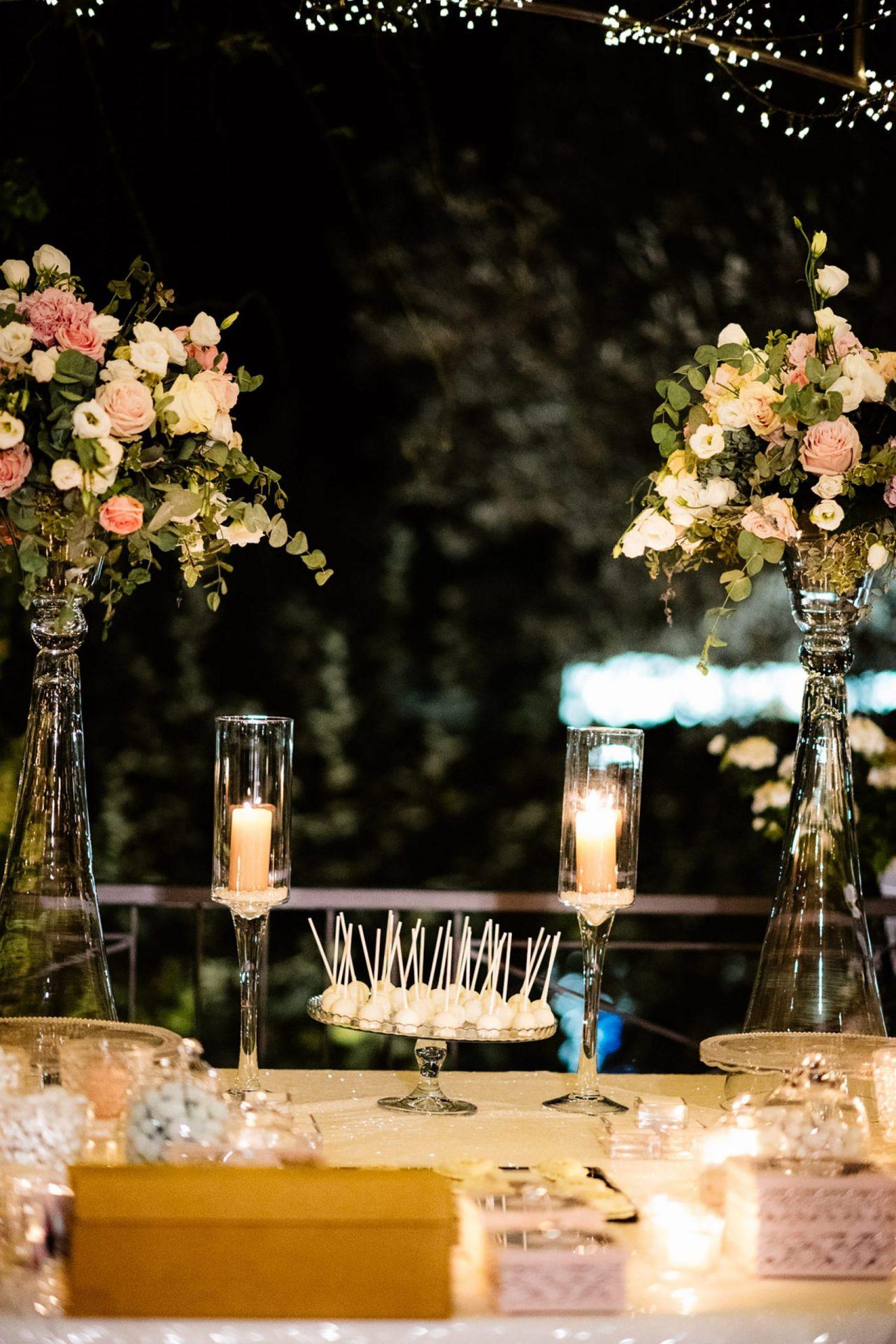 Francesca and Francesco, sweet table decor