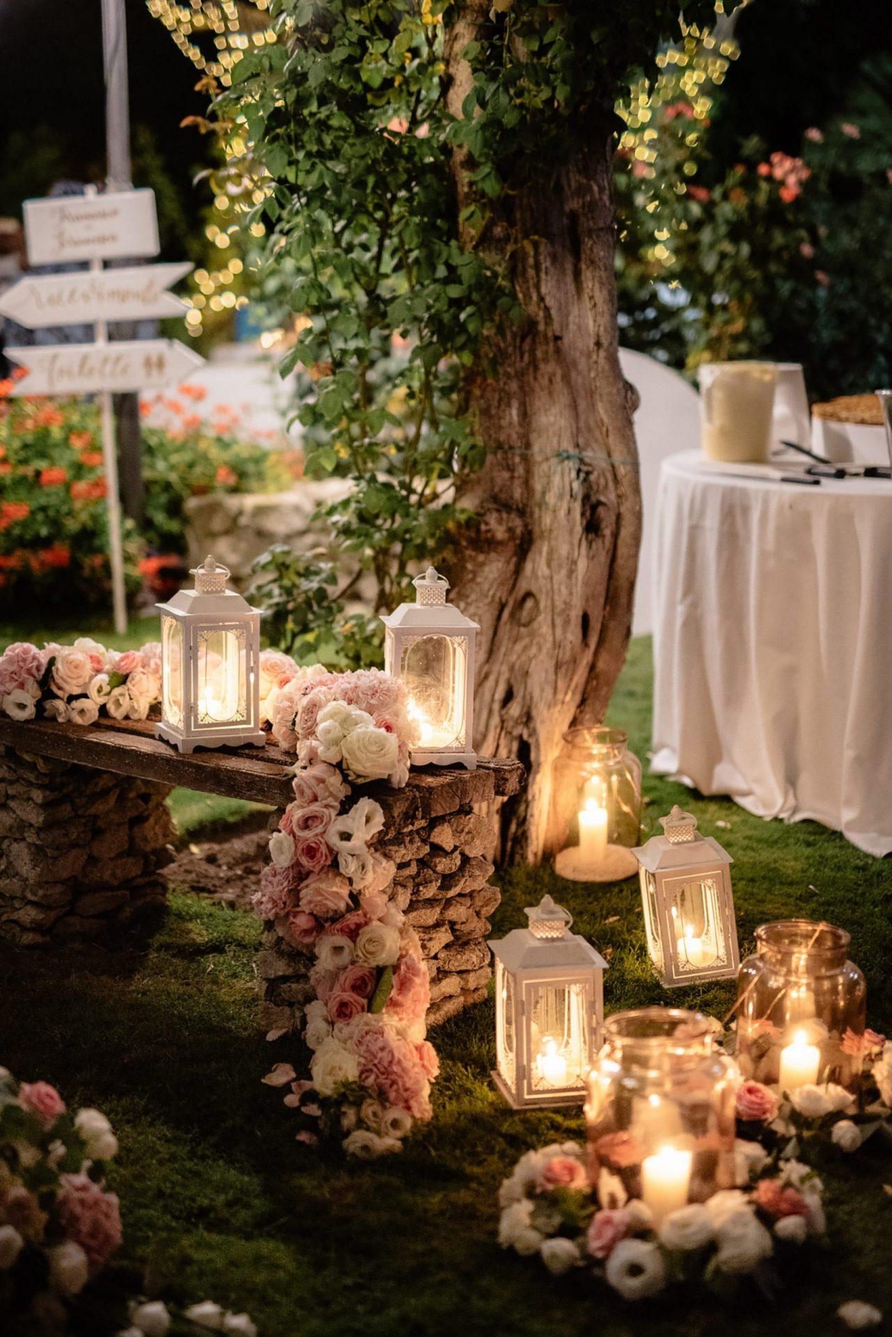 Francesca and Francesco, romantic wedding decor