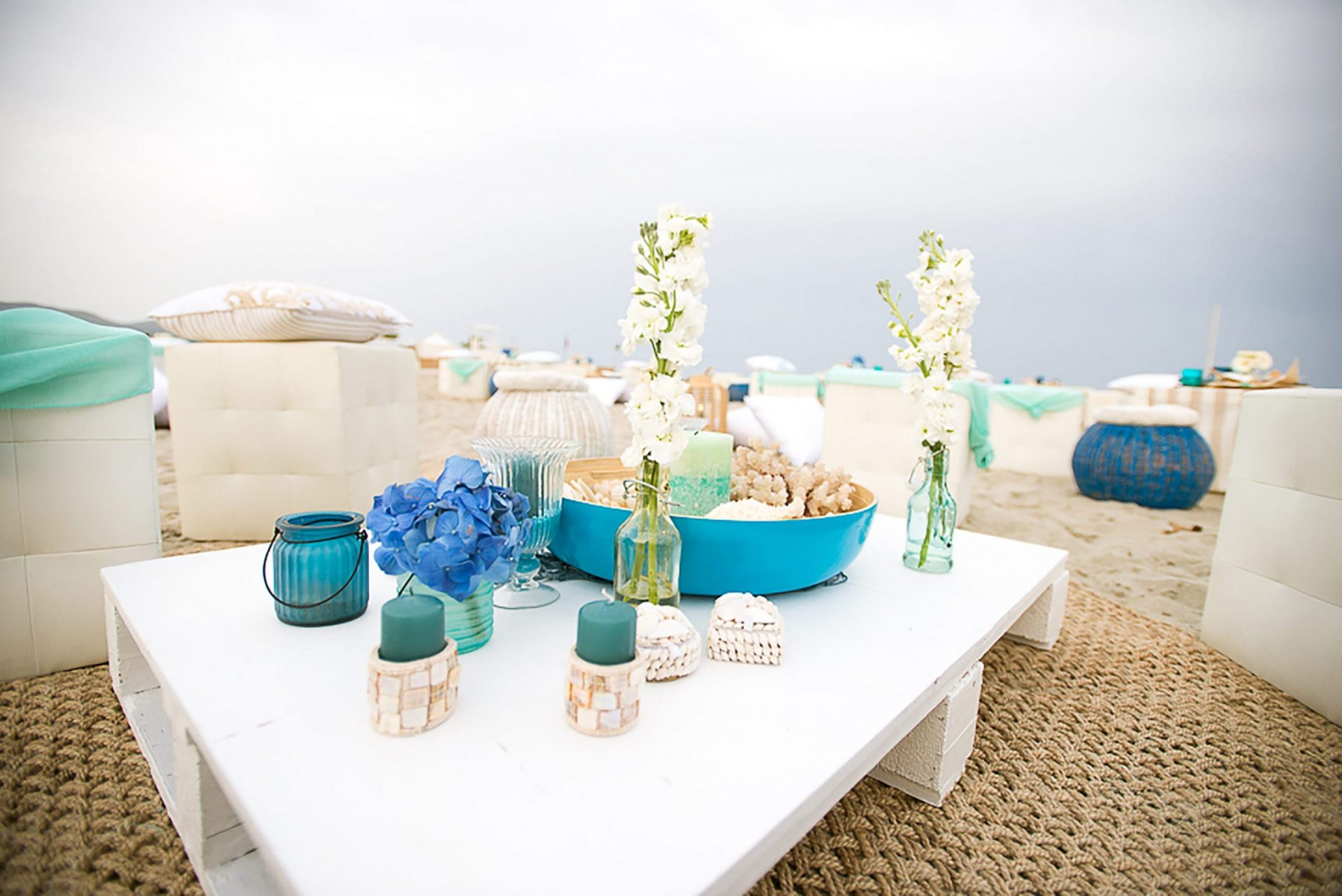 Sardinia. Theme party on the beach, decor detail
