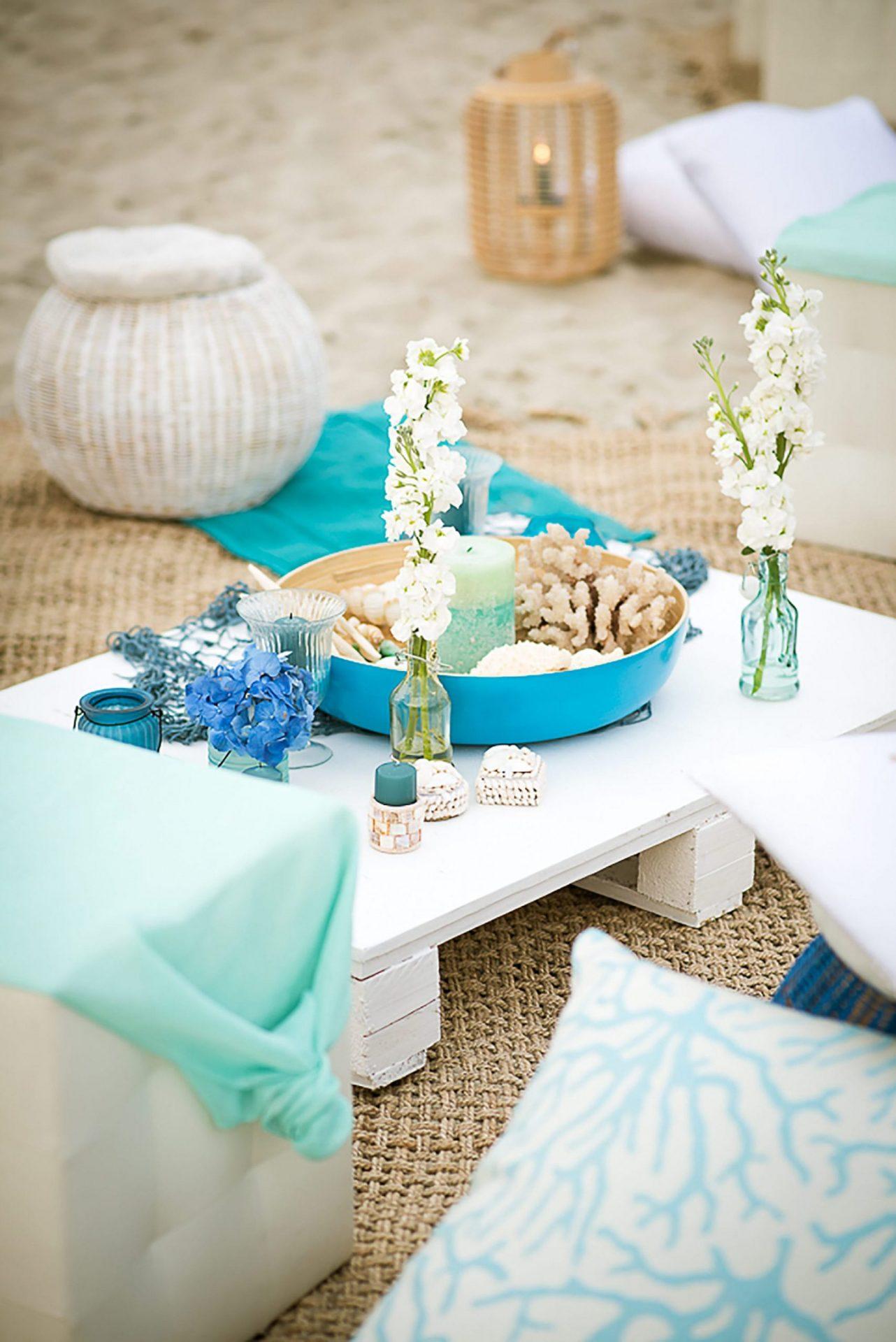 Sardinia. Theme party on the beach, lounge area
