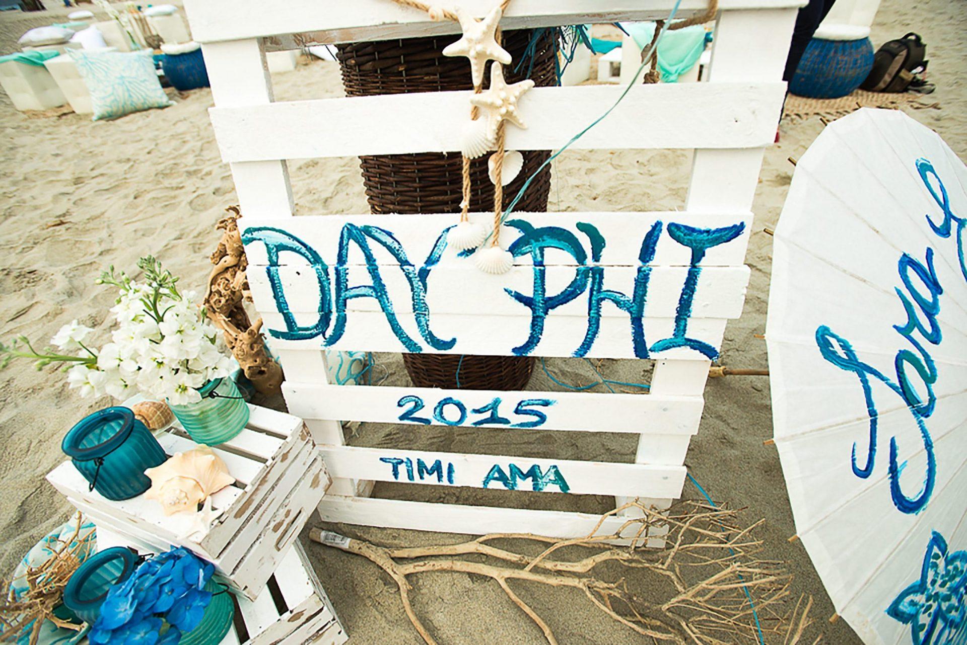 Sardinia. Theme party on the beach, detail