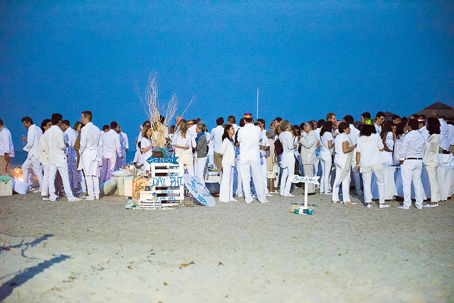 White party on the beach, Sardinia