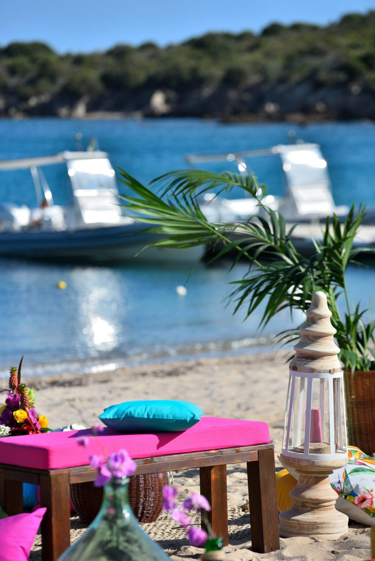 Tropical party in Porto Cervo, lounge area