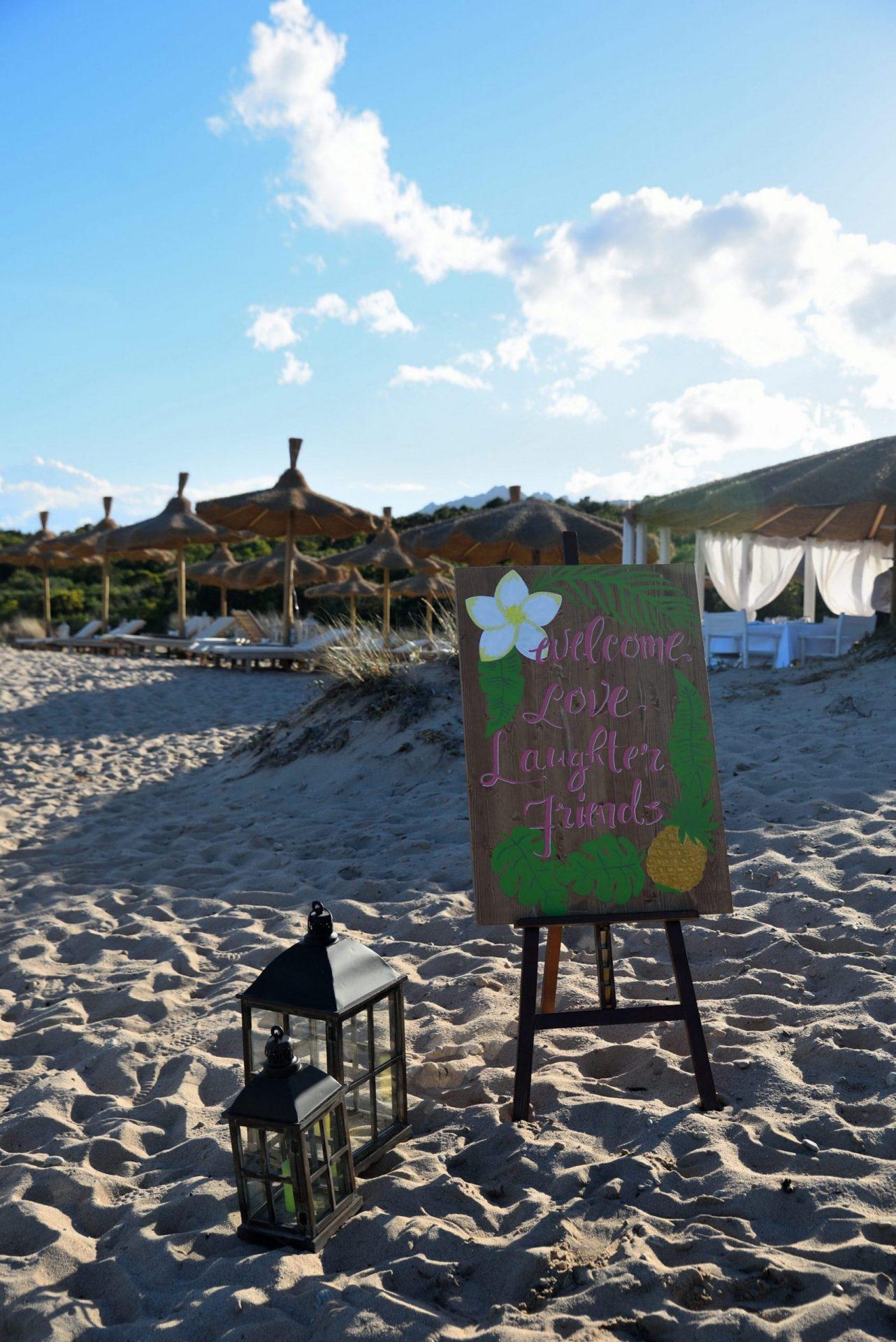 Tropical party on the beach, Porto Cervo