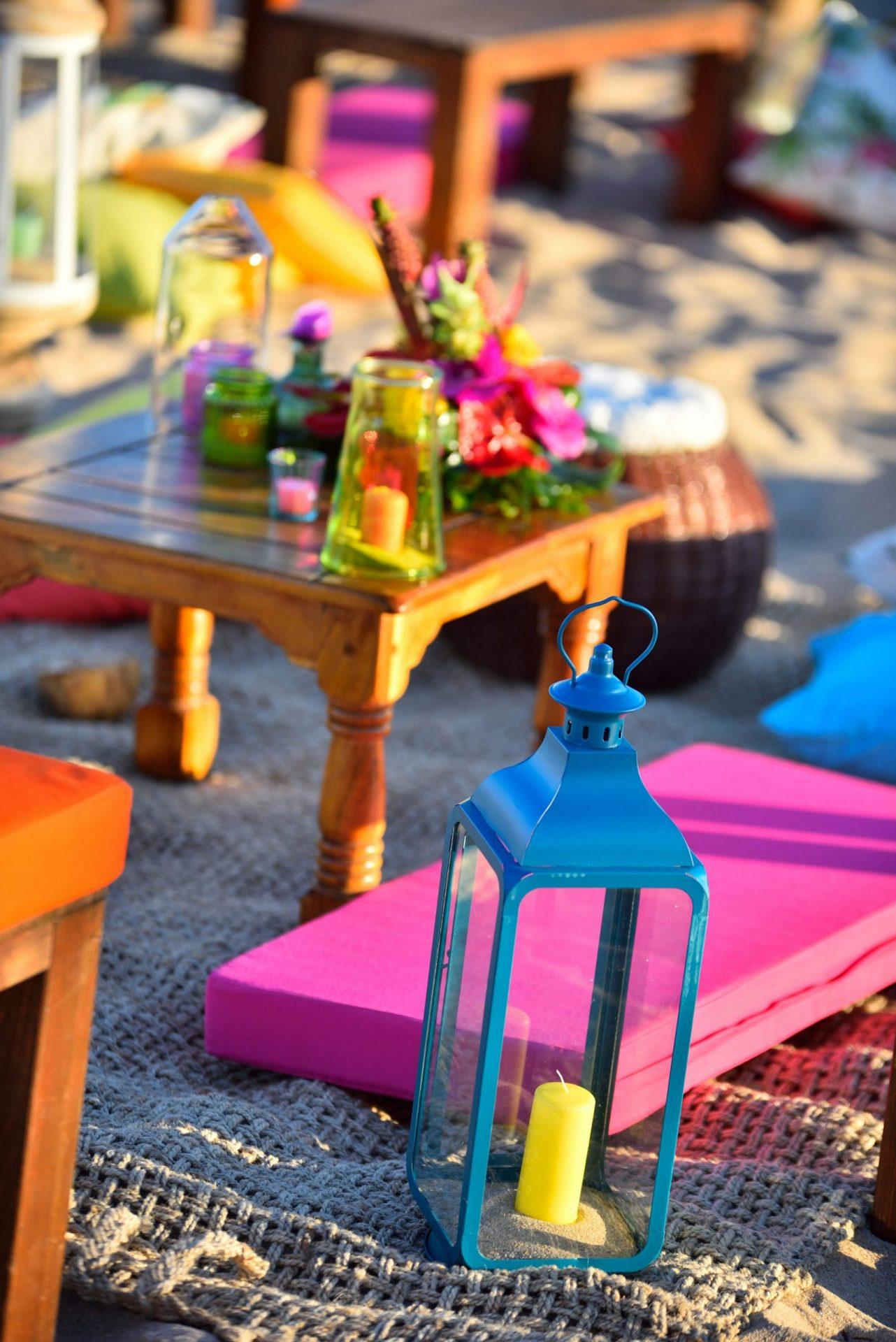 Tropical party in Porto Cervo, decor detail