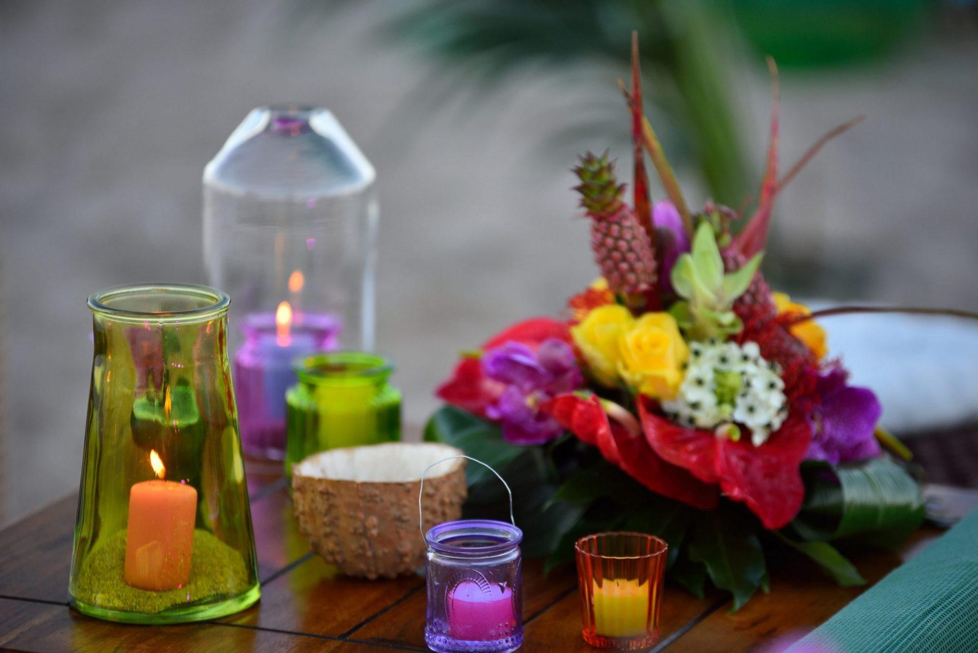 Tropical party in Porto Cervo, decor details