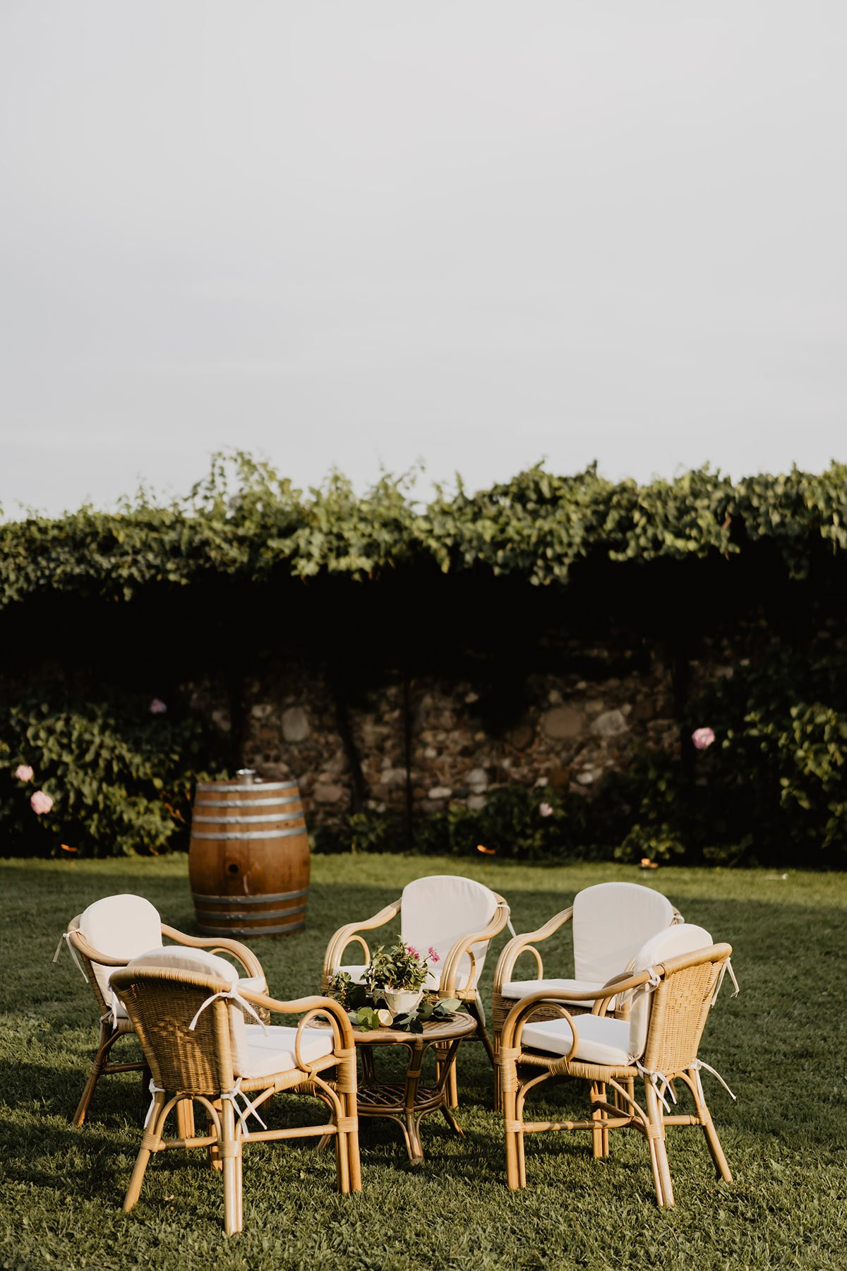 Ranya and Tarek, rehearsal dinner in Italy, styling
