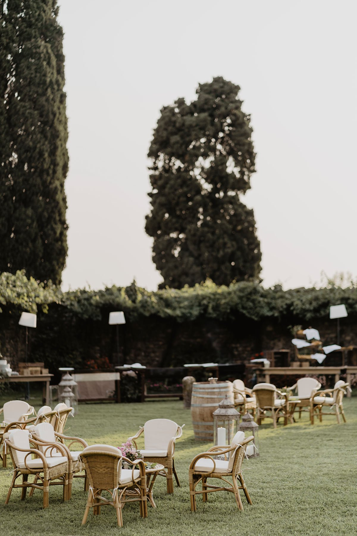 Ranya and Tarek, rehearsal dinner in Italy, set up