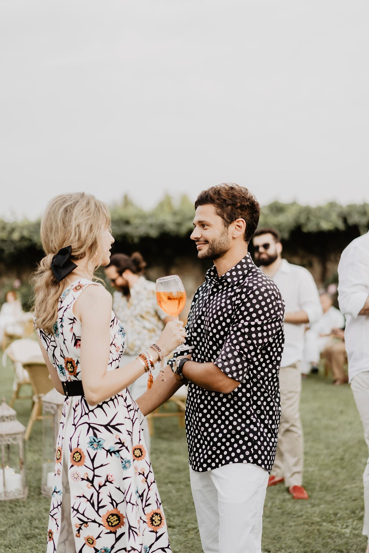 Ranya and Tarek, rehearsal dinner in Italy