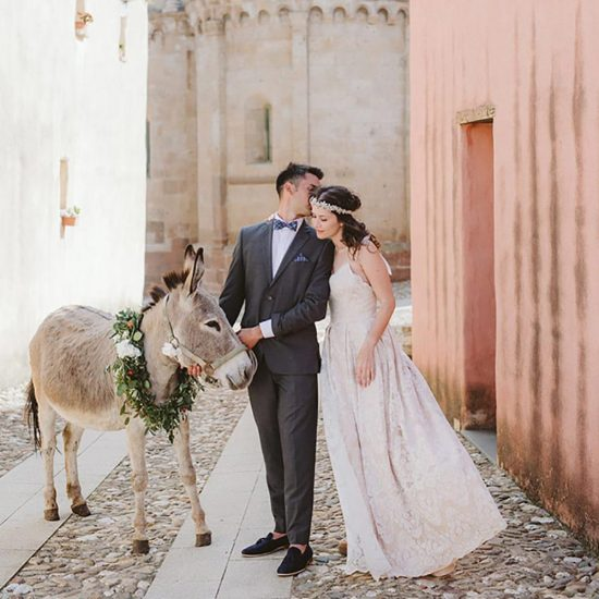 sensory destination wedding in an ancient sardinian village