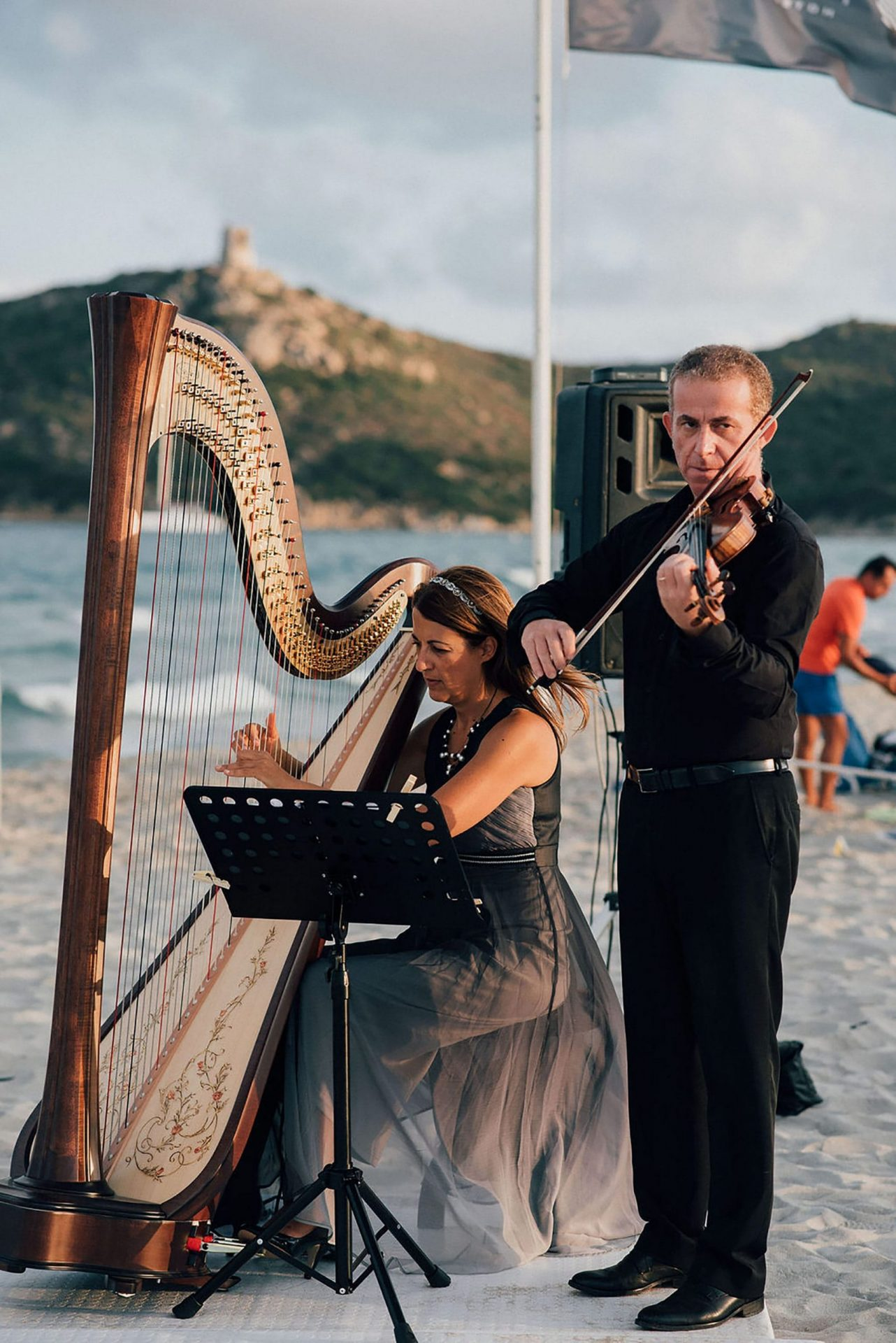 Andrea and Sebastien, wedding on the beach music