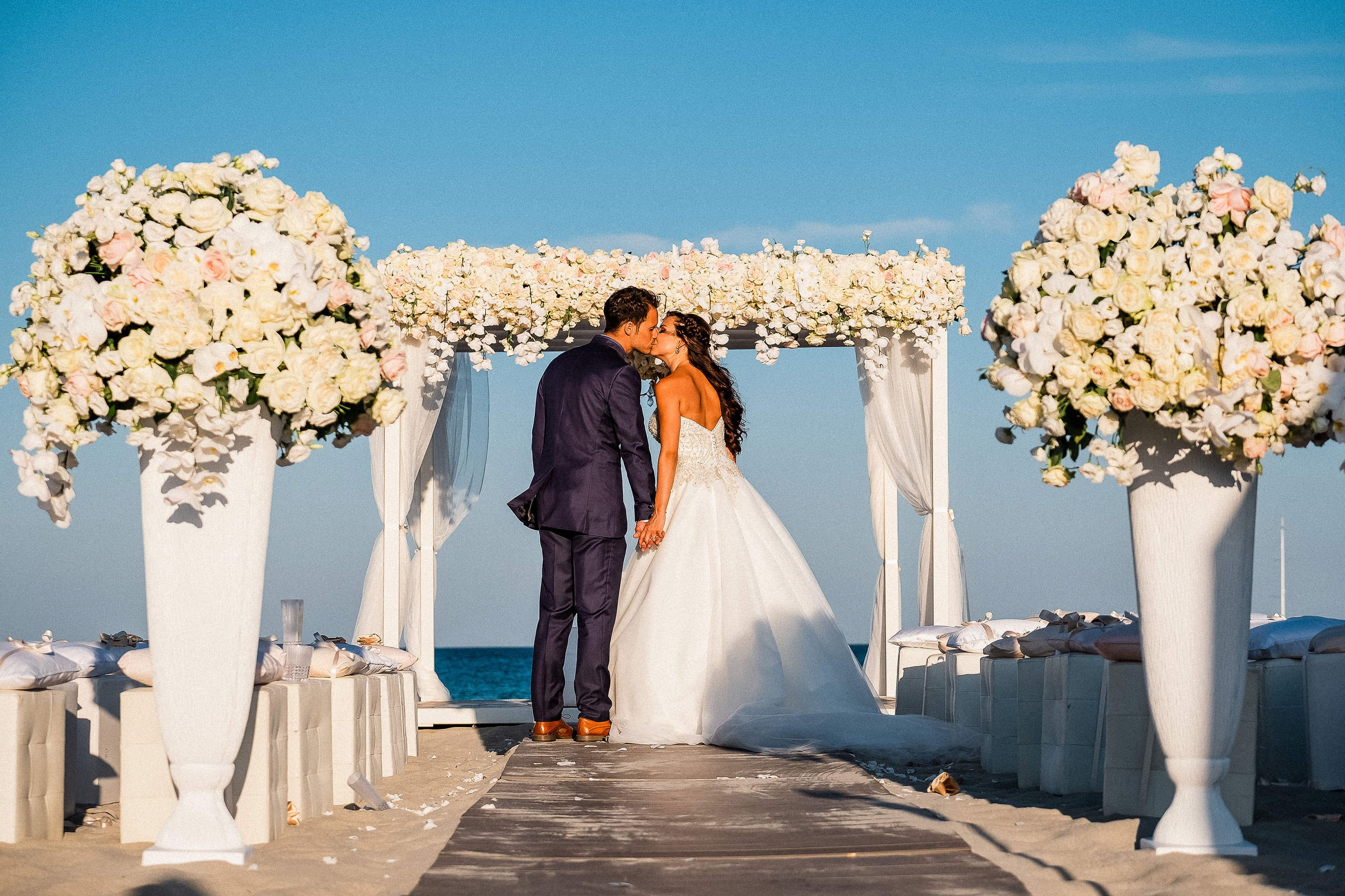 Talisa and Yassin_wedding on the beach