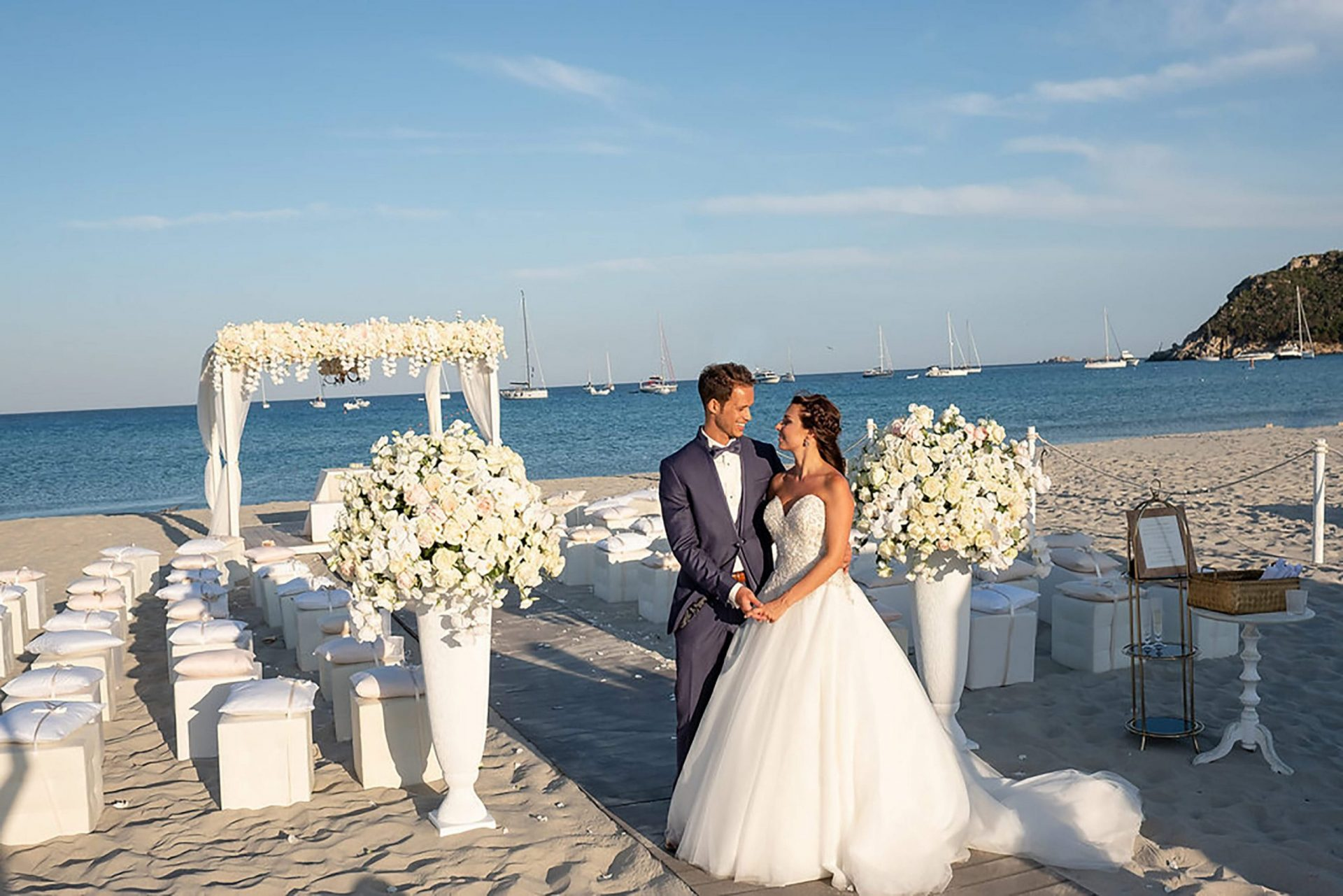 Talisa and Yassin, wedding on the beach