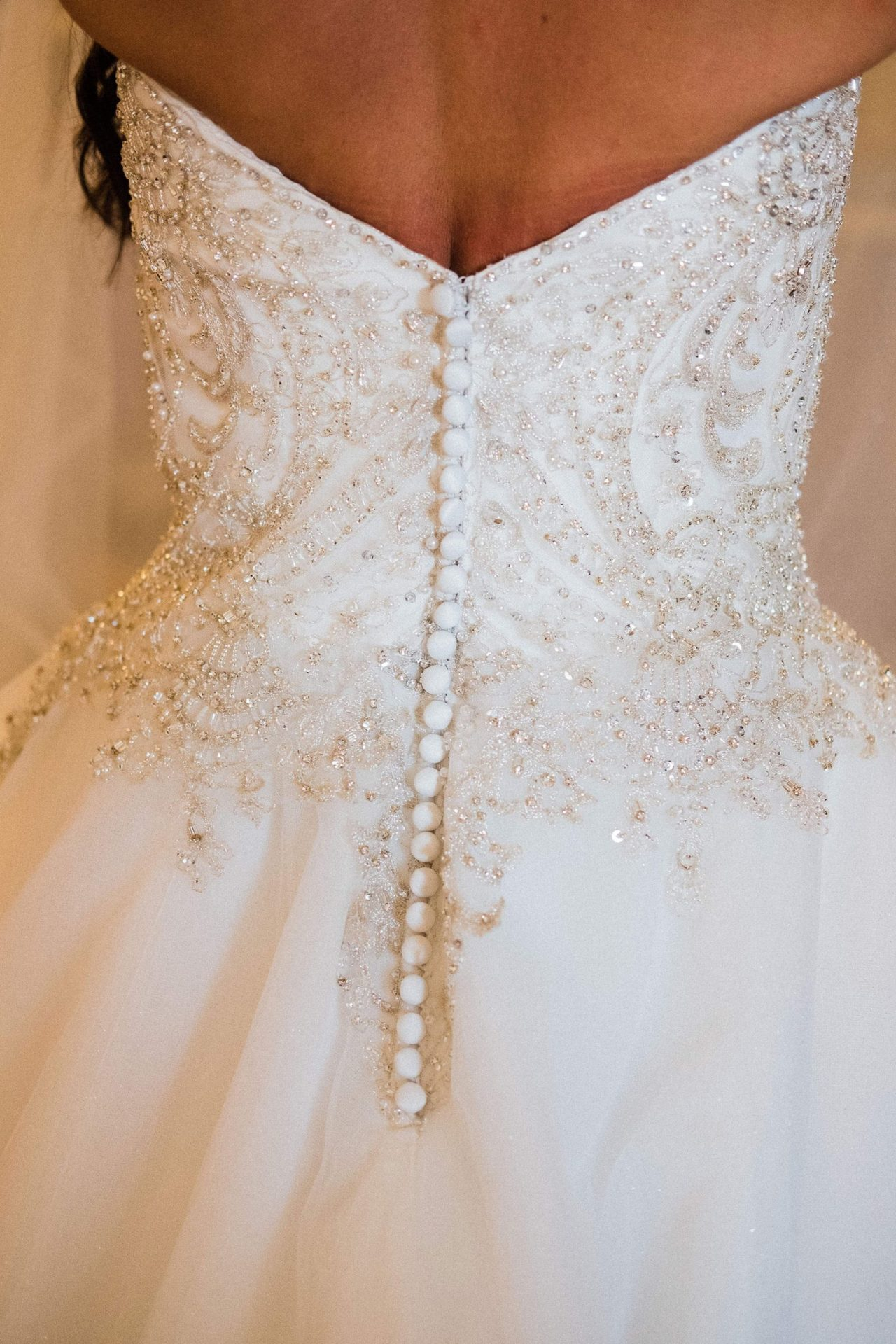 Talisa and Yassin, wedding dress detail