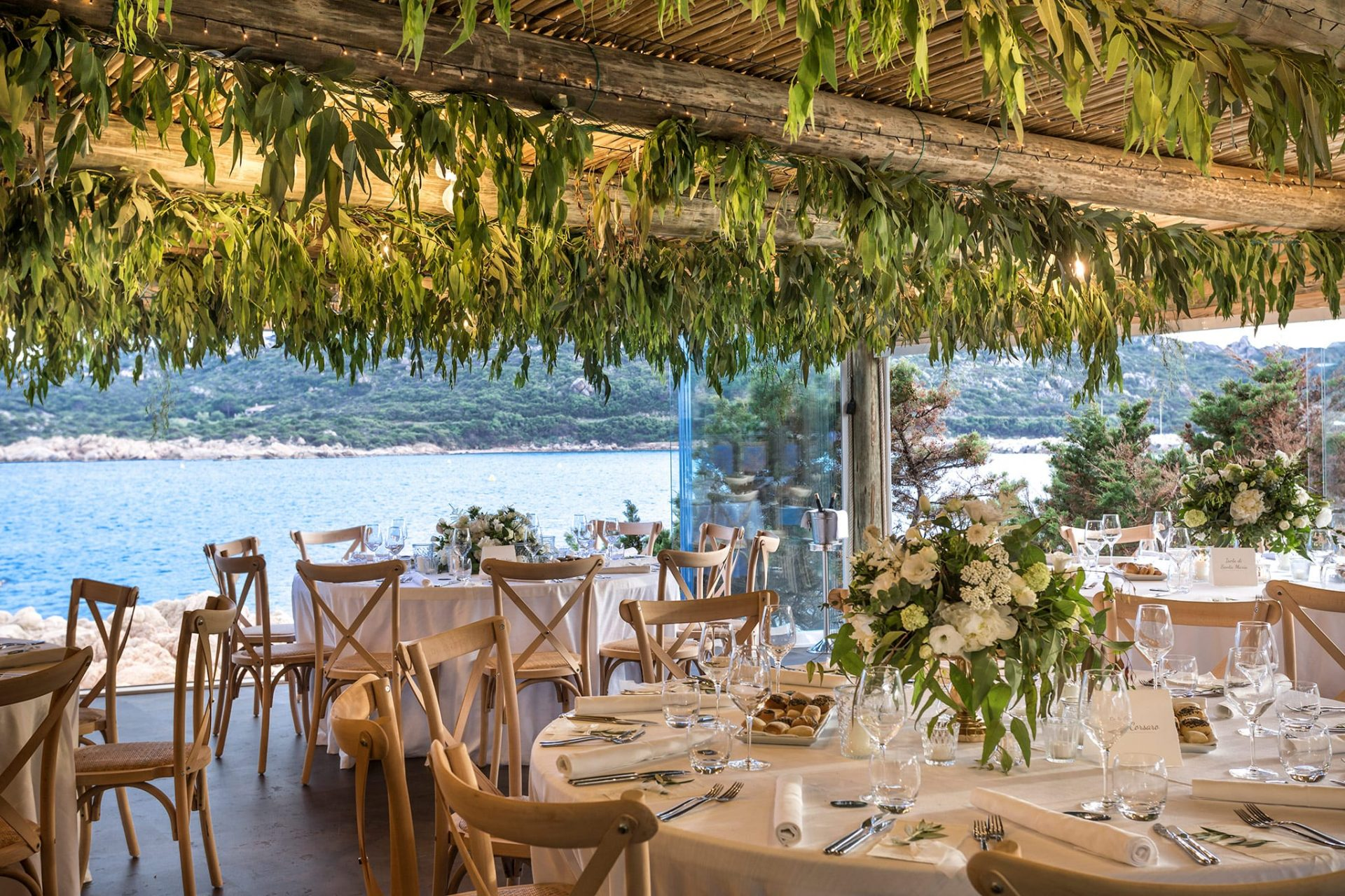 Agustina and Gianluca, restaurant with sea view